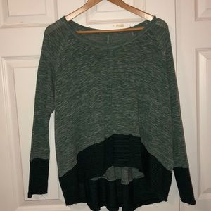 Free people color blocked long sleeve